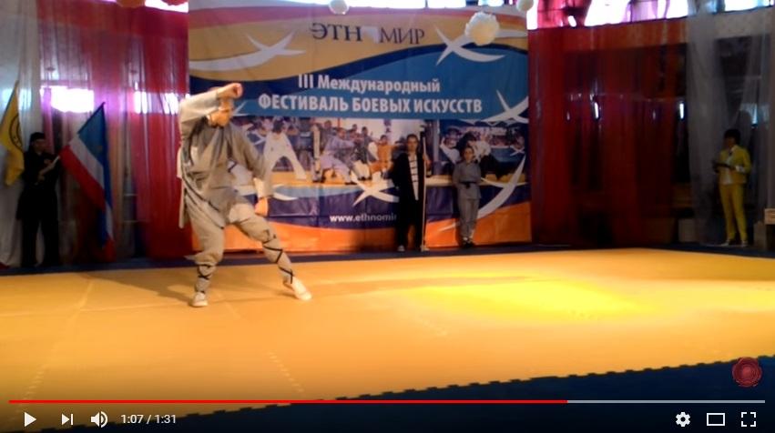 Видео с фестиваля боевых искусств — Цзинганцюань
